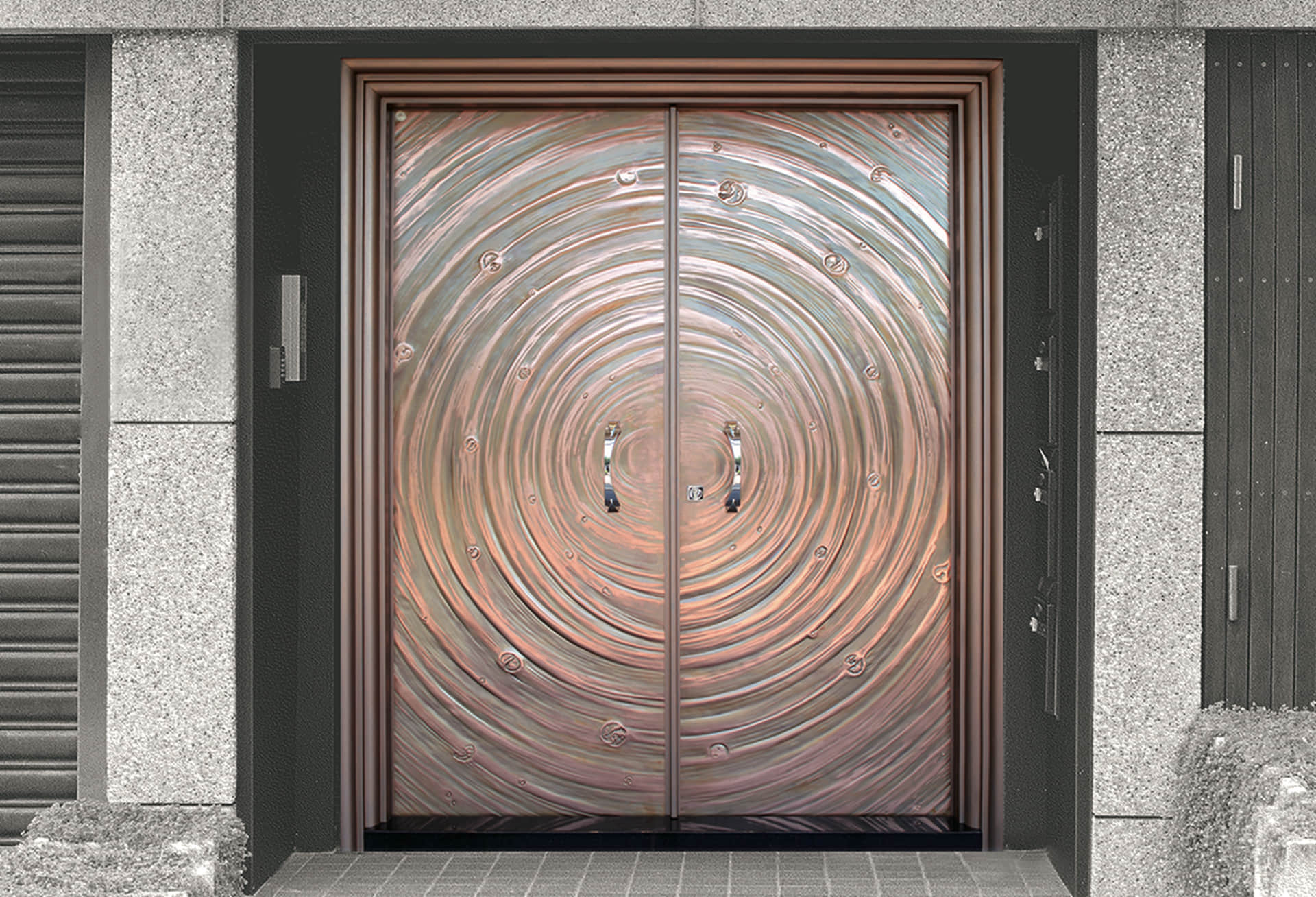 H4 The Sienna Door Bronze Entrance Door