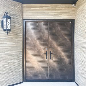 H3 Ocean Wave Cast Aluminum Smart Entrance Door