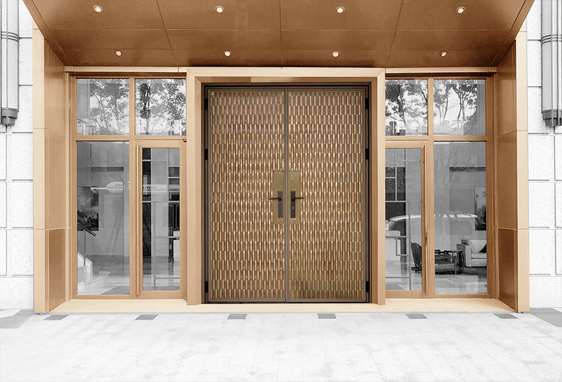 H4 Lake Ripple Bronze Smart Entrance Door